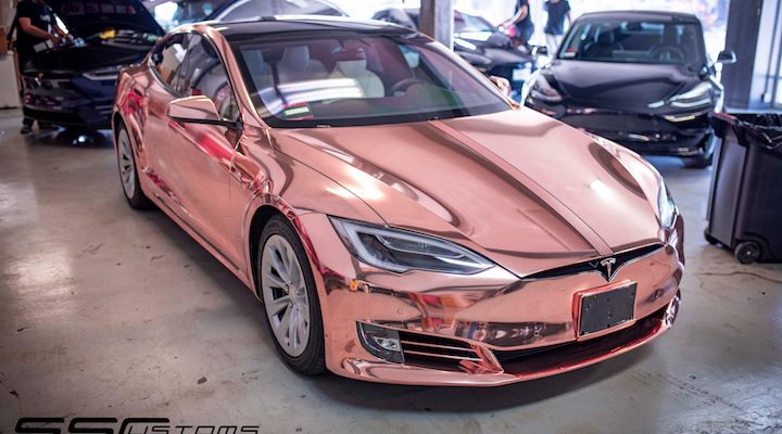 rose_gold_chrome_tesla